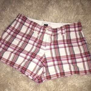 Red plaid Manhattan Chino Shorts